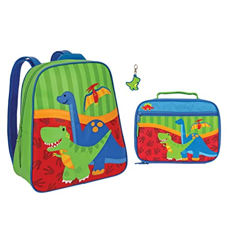Amazon.com: Stephen Joseph Boys Dinosaur Backpack and Lunch Box with T-Rex Zipper Pull: Kitchen & Dining