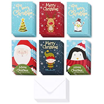 36 pack merry christmas greeting cards bulk box set inappropriate offensive winter holiday xmas greeting cards