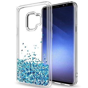 LeYi Funda Samsung Galaxy S7 Edge Silicona Purpurina Carcasa con HD Protectores de Pantalla,Transparente Cristal Bumper Telefono Gel TPU Fundas Case ...