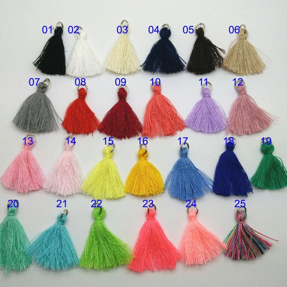 25pcs Multi-Colors Mini Tassels DIY Craft Supplies Jewelry Tassels Chunky Tassel Fringe Trim by Pamir Tong
