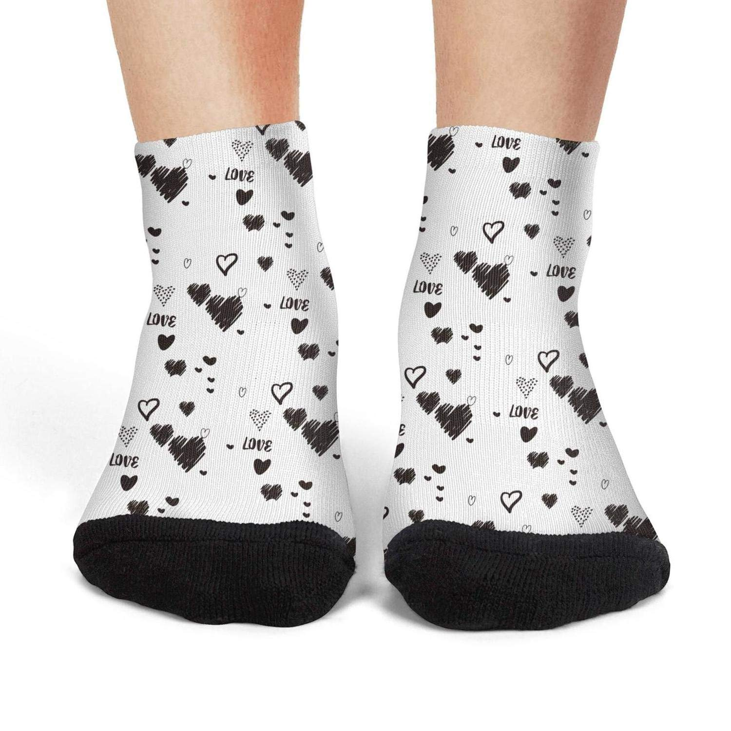 Ethnic style Vintage Cushioned No ShowRunning Non-Slid Ankle Socks for womens