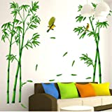 Vovotrade Deep Forest Bamboo 3D Stickers muraux Romance décoration murale bricolage Home Decor