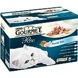 Purina Gourmet Perle Wet Cat Food Mini Fillets in Gravy, 12 x 85 g - Seaside Duo (Pack of 4)
