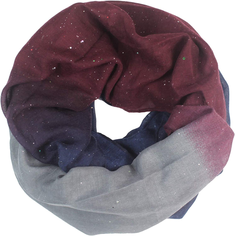 Glamexx24 Sciarpa da donna Tubolare foulard lungo circolare per tutte le stagioni con diversi colori e motivi