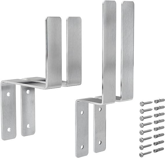 Vormann - Juego de soportes para mesas y bancos plegables, acero ...