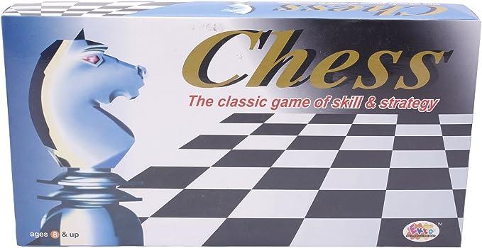Ekta Chess and Checkers Board Game (Multicolour)