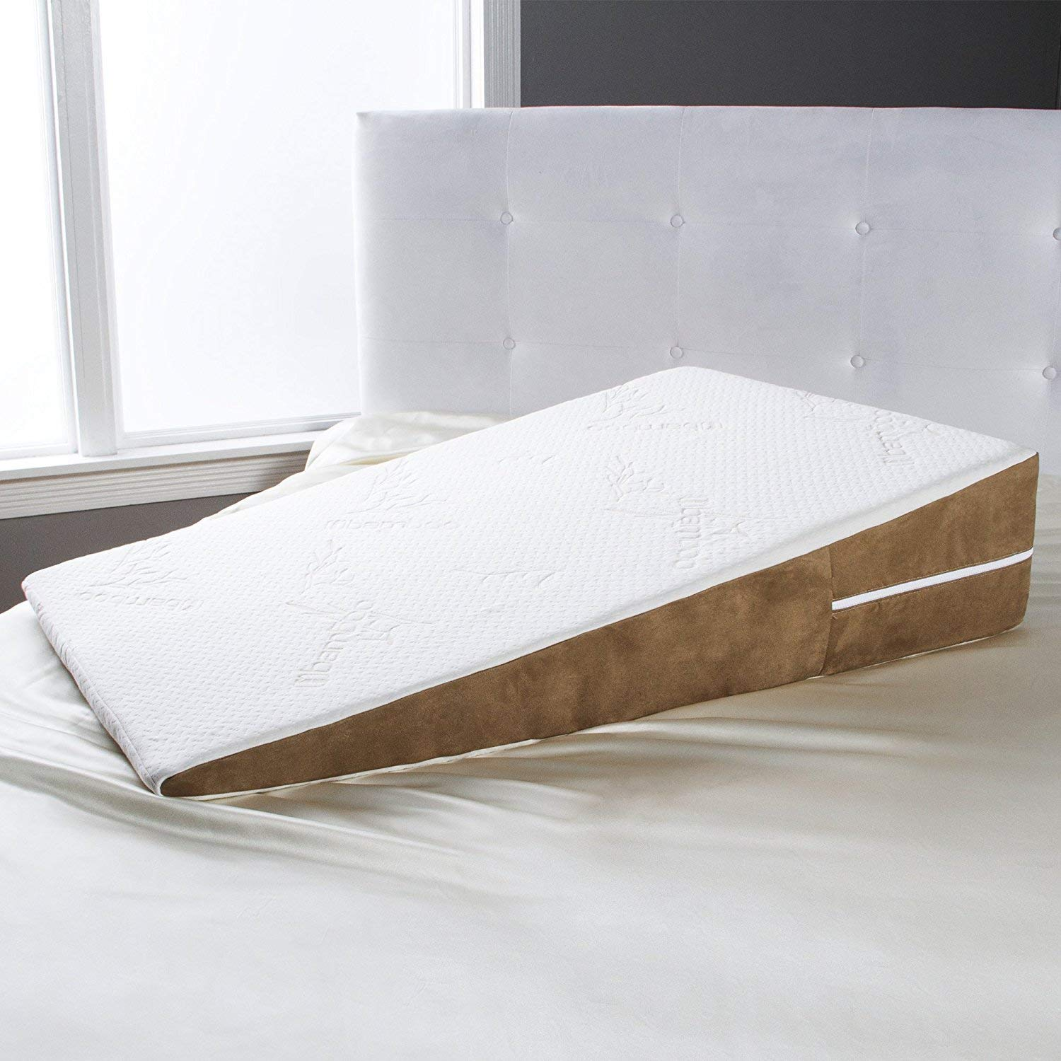 Avana Bed Wedge Memory Foam Pillow with Removable Bamboo Cover, Extra Large by Avana