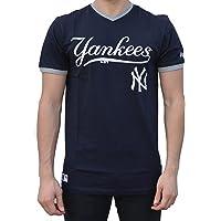 New Era Ne96423Fa16 Mlb Ringer Tee Neyyan - T-shirt-Linie New York Yankees für Herren, Farbe Blau, Größe