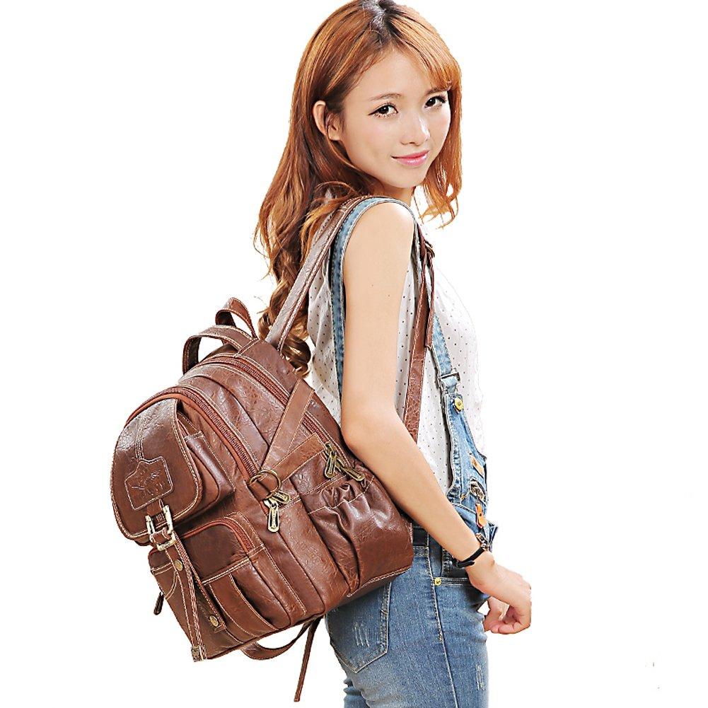 Yaoko Women Fashion college school bag travel backpack (Black) by Yaoko (Image #3)