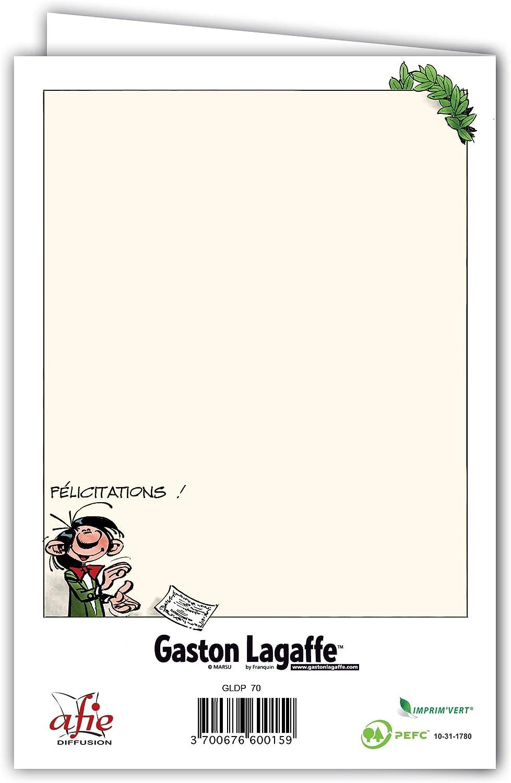 Gaston Lagaffe Carte Double avec Enveloppe Anniversaire Dipl/ôme de la 30aine Bienheureuse Guitare /à la fen/être Musique Chanter Chanson Joyeux Anniversaire Animaux Chat Mouette