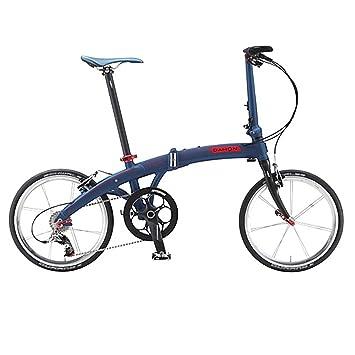 Dahon Faltrad MU LT10 20 Zoll 10 Gang Blau Rot Klapp Fahrrad Herren Damen Faltbar Kettenschaltung