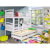 Bett Thomas Jugendbett Kinderbett Weiss Blau 90x200 Amazon De