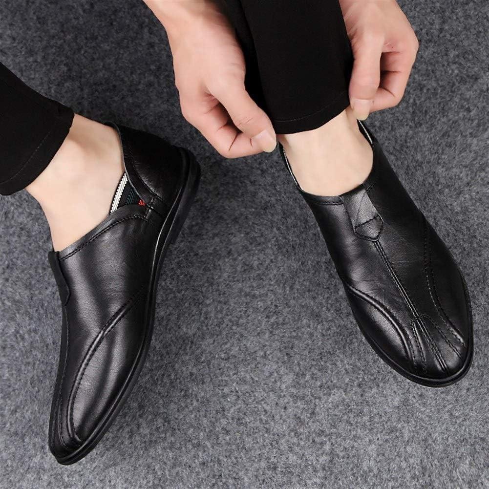 Color : Braun, Gr/ö/ße : 38 EU DADIJIER Driving Loafer F/ür Herren Boot Mokassins Slip On Style OX Leder Leichtes pflegeleichtes Top im britischen Stil Anti-Rutsch atmungsaktives weiches