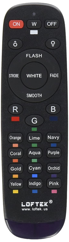 LOFTEK New Version Remote Control for RGB Waterproof Outdoor Security LED Flood Light