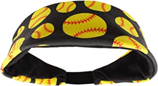 product image for MadSportsStuff Crazy Softball Headband with Softball Logos