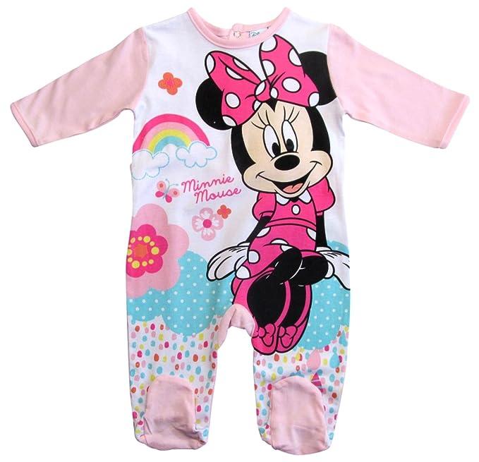 Minnie Mouse - Pantalón de peto - para bebé niño Rosa 80 cm