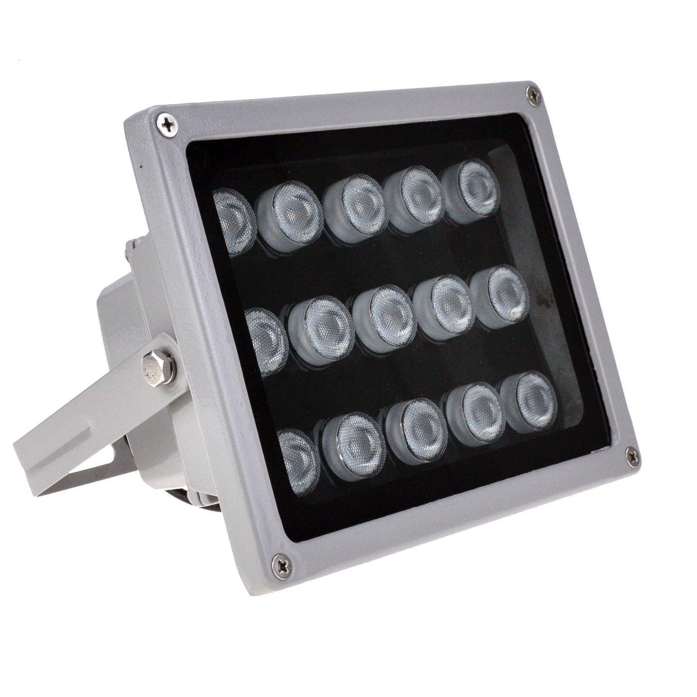 VIKYLIN IR Illuminator 850nm 15 PCS LEDs 90 Degrees Wide Angle IP67 for CCTV Security Camera