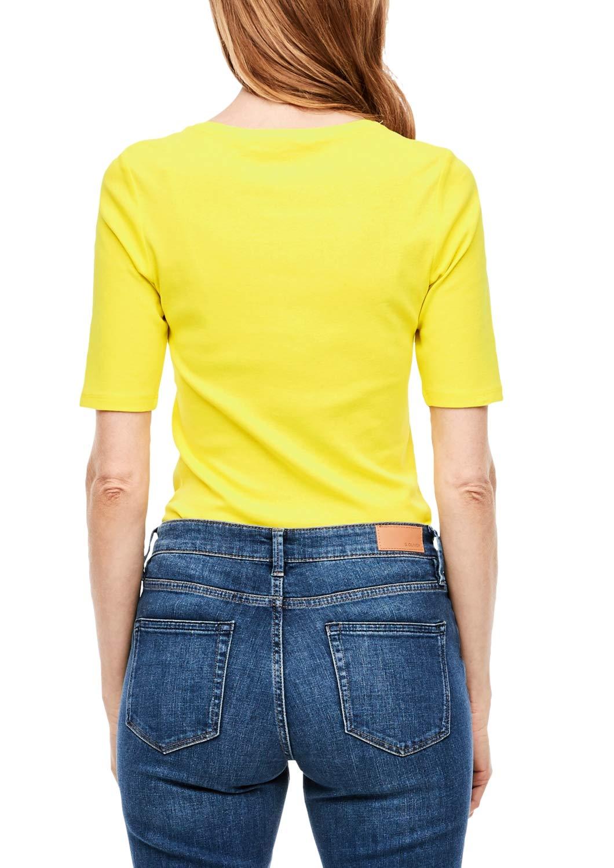 s.Oliver Rak jeans för kvinnor Ljusgul
