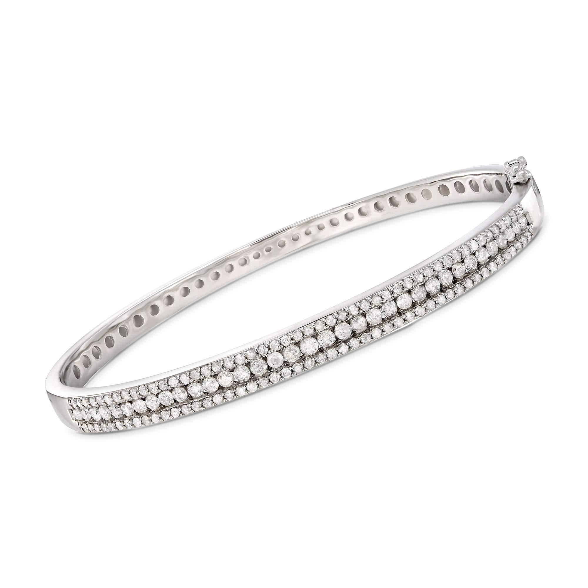 Ross-Simons 2.00 ct. t.w. Diamond Bangle Bracelet in Sterling Silver