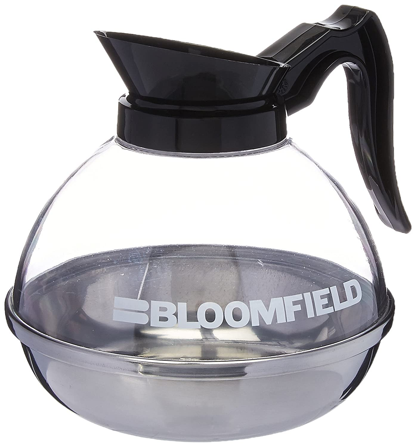 Bloomfield REG10114BLI Unbreakable Decanter, Plastic with Stainless Steel Bottom, Black Handle Bloomfield Worldwide a division of The Star Group