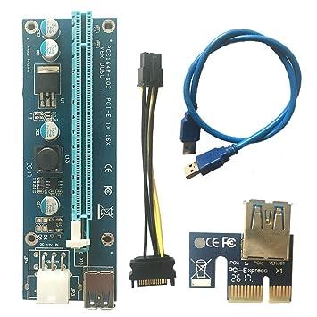USB3.0 PCI-E Express 1x a 16x Extender Riser Card ...