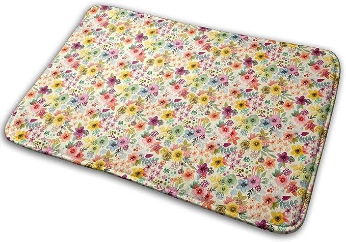 """Imagen deBLSYP Felpudo Flowers in Blooming Spring Doormat Anti-Slip House Garden Gate Carpet Door Mat Floor Pads 15.8"""" X 23.6"""""""