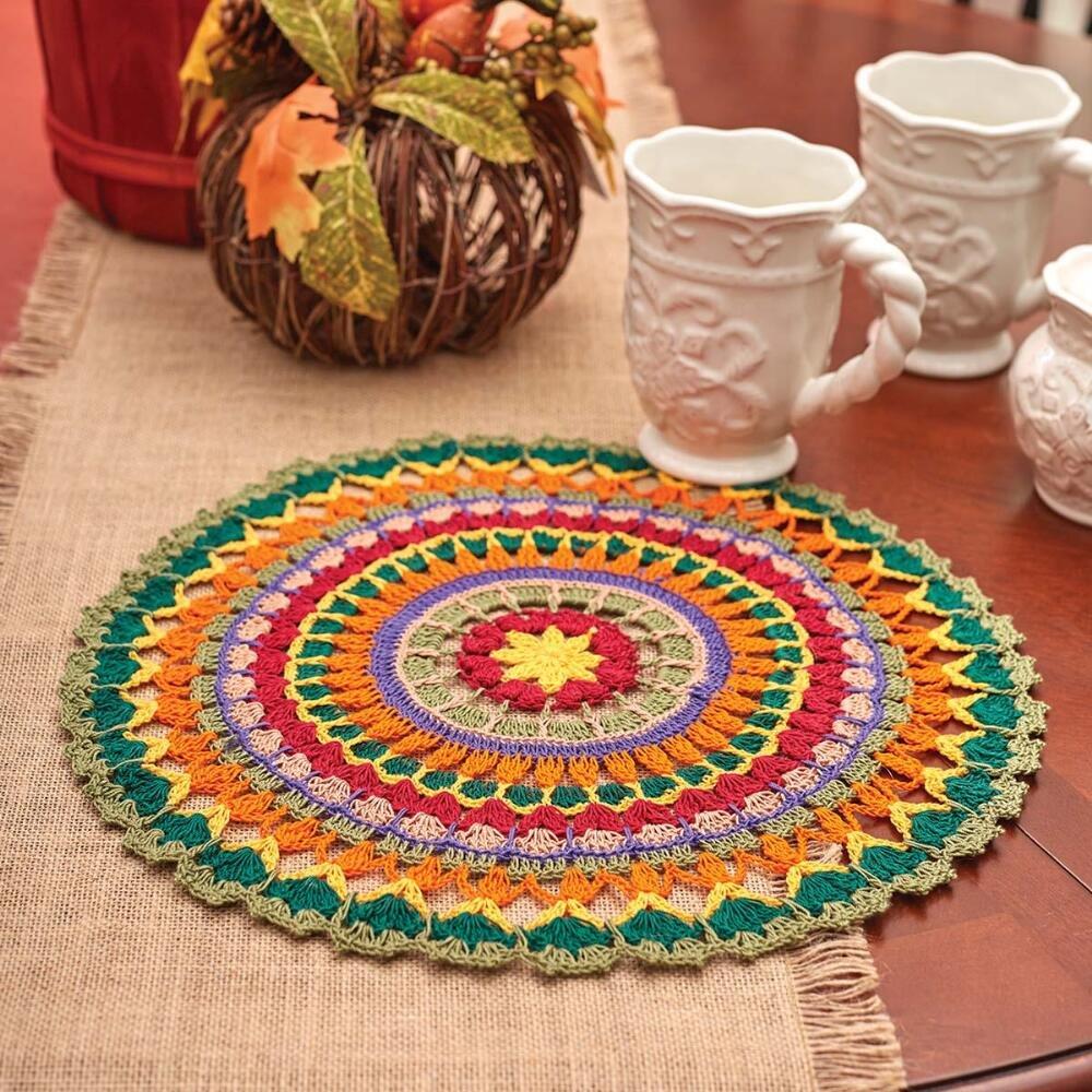 Aunt Lydia's Mandala Doily Crochet Yarn Kit