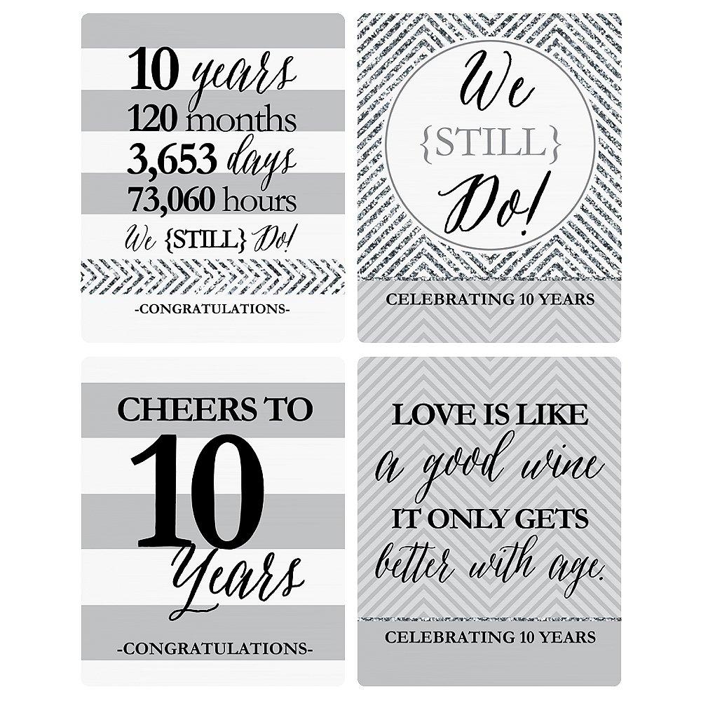 /10/ème anniversaire de mariage /étiquettes de bouteille de vin/ /Lot de 4 nous Avons toujours faire/