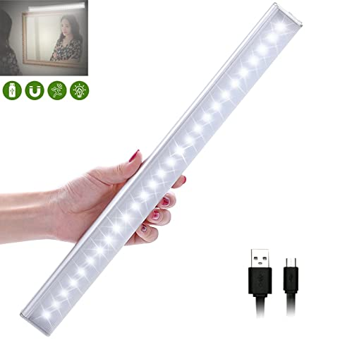 USB Rechargeable Closet Lights Motion Sensor 27 LED Portable Wireless Light  Bar Cabinet Kitchen Wardrobe Night