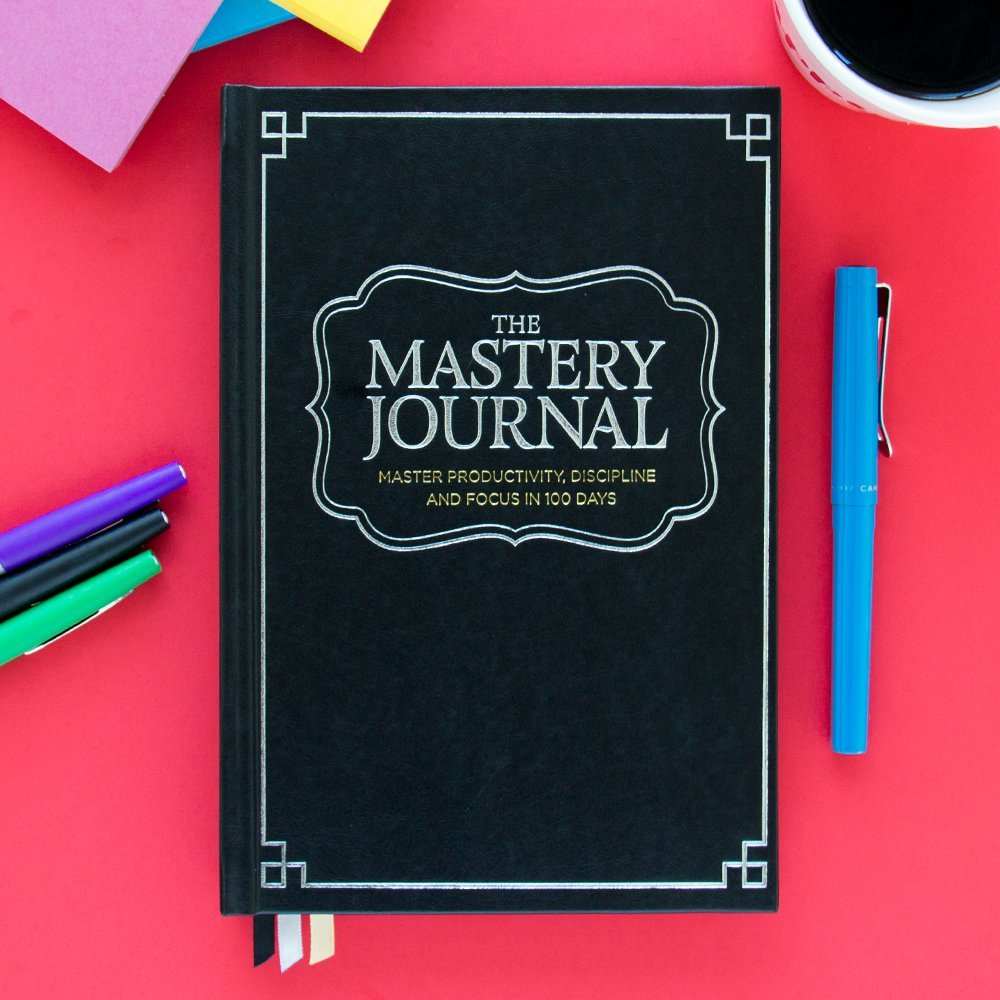 The Mastery Journal - The Best Daily Planner for mastering productivity, discipline and focus in 100 days! Hardcover, Non Dated - 1 Year Guarantee by The Mastery Journal (Image #3)
