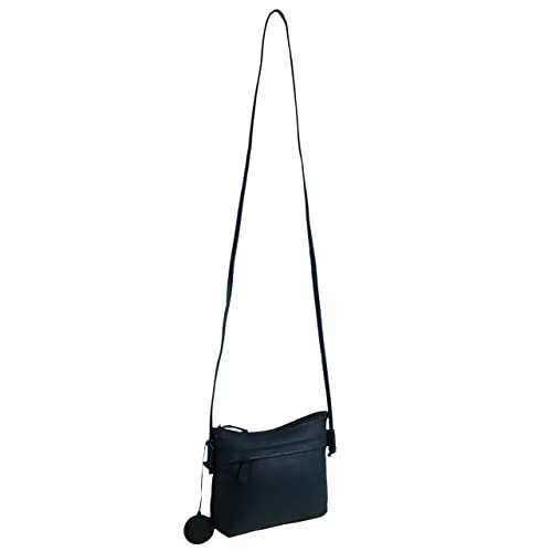 4d68b25fb8 Ladies Small Leather Cross Body Bag by Hansson Nordic Blue Shoulder Handbag  (Ocean)