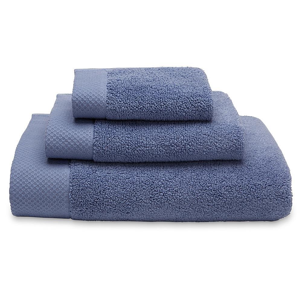 CANNON Ultimate Cotton Bath Towel Hand Towel & Washcloth (Country Blue, Bath Towel)