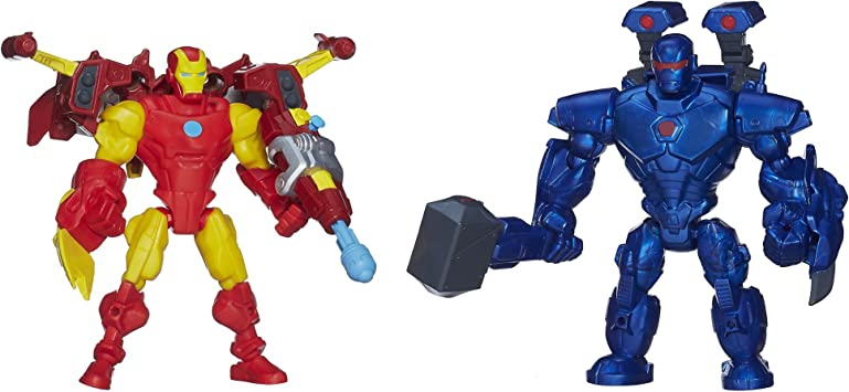 Marvel Super Hero Mashers Iron Man Vs Iron Monger [Importación ...