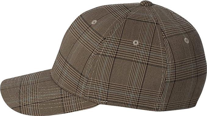 6fffb4c4a82 Flexfit - Check Cap - 6196-Brown Khaki-S M at Amazon Men s Clothing ...