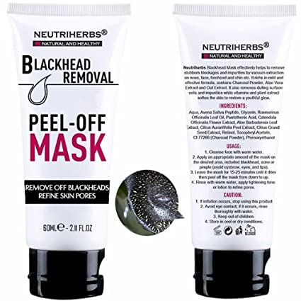 Neutriherbs Black Head Remover Mask, Deep Cleansing Purifying Peel-Off  Facial Mask, Face Mask