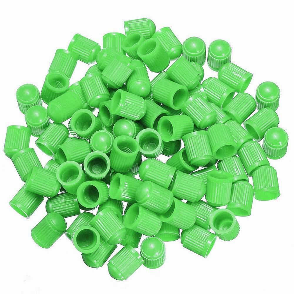 100 Tappi Antipolvere universali per valvole dei Pneumatici di Auto e Biciclette KaariFirefly in plastica