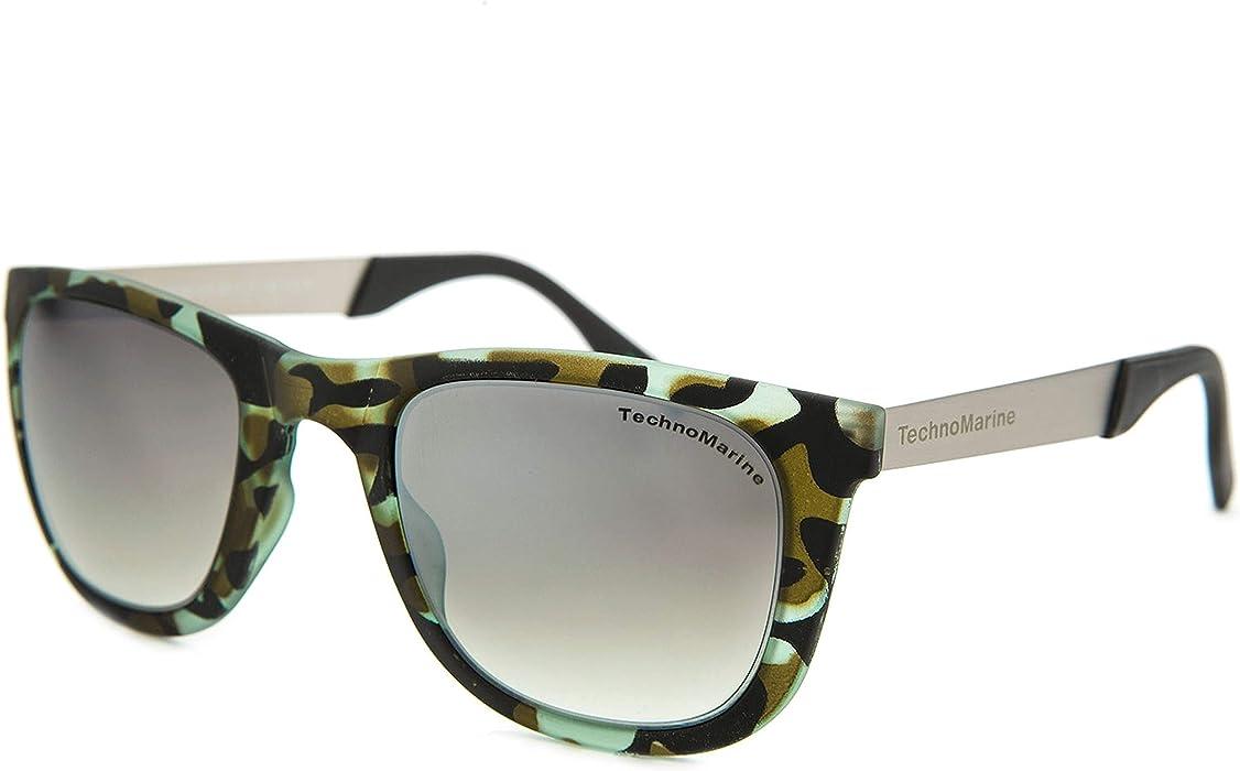 fdc812b9346 Amazon.com  Techno Black Reef Sunglasses Camo Green Frame TMEW001-05 ...
