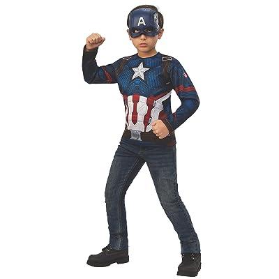 Rubie's Marvel Avengers: Endgame Child's Captain America Costume Top & Mask, Small: Toys & Games
