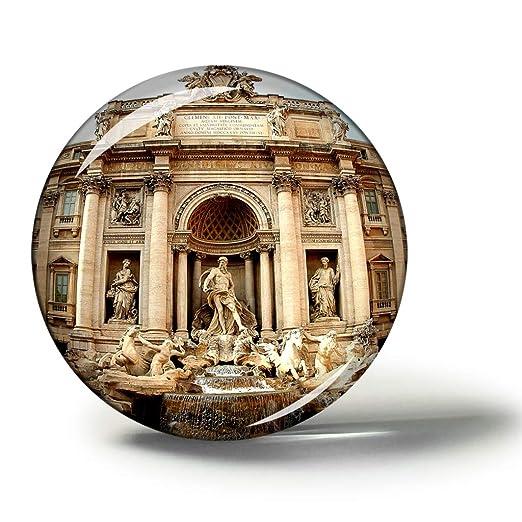 Hqiyaols Souvenir Italia Trevi Fuente Roma Imanes Nevera ...