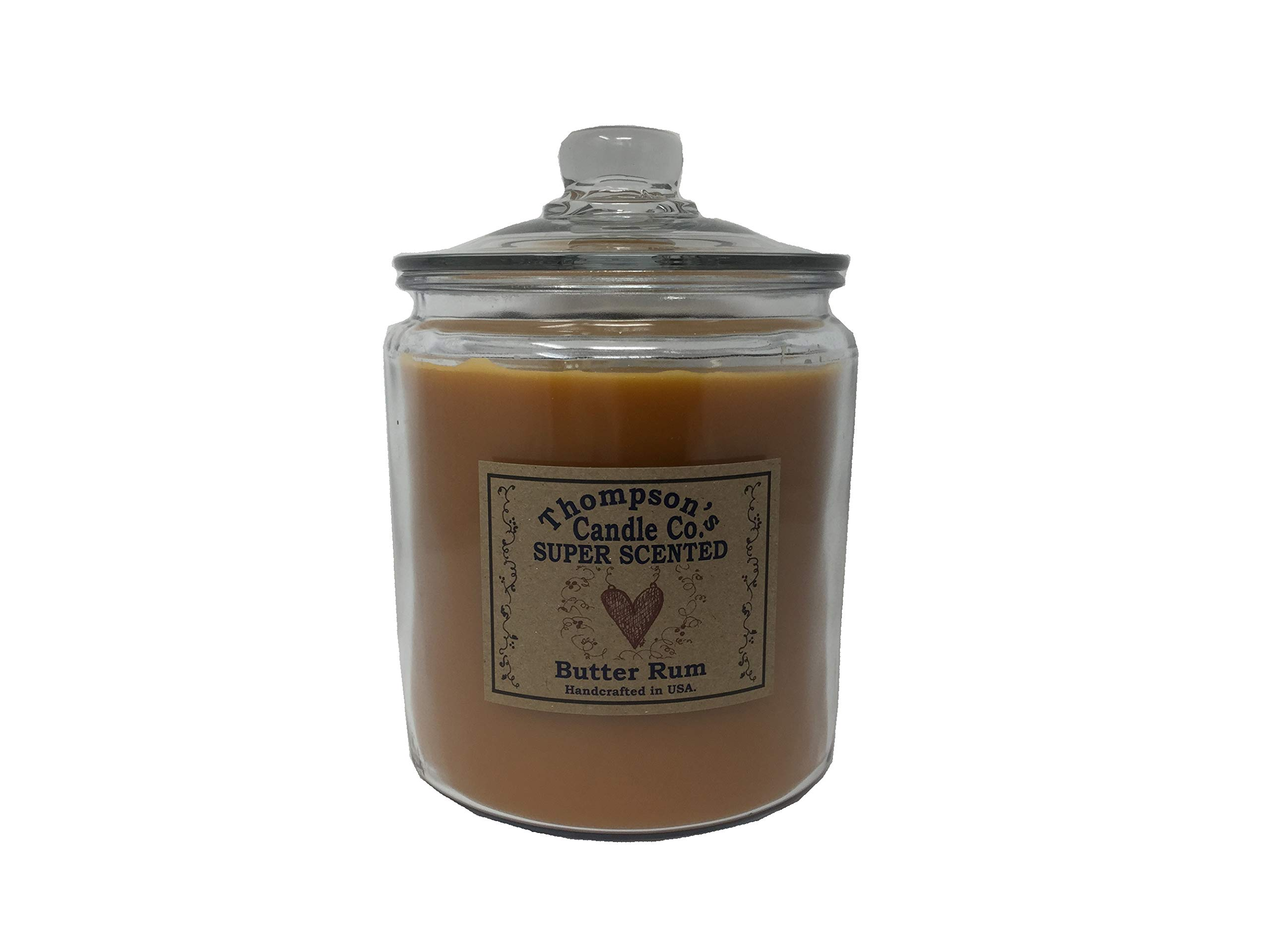 Thompson's Candle 64oz Butter Rum Cookie Jar Candle