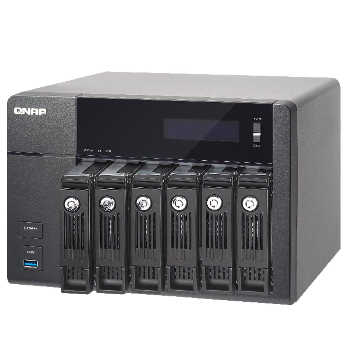 QNAP TVS-671 NAS Torre Ethernet Negro - Unidad Raid (Unidad de Disco Duro, SSD, Serial ATA II, Serial ATA III, 2.5/3.5