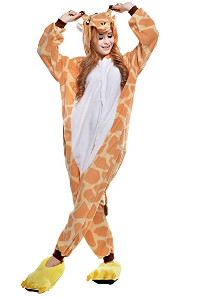 newcosplay adult pikachu charmander onesie costume kigurumi pajamas halloween costumes s giraffe