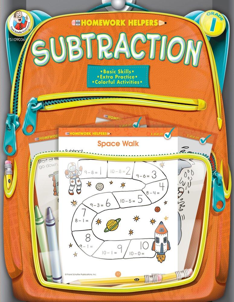 Subtraction Homework Helper, Grade 1