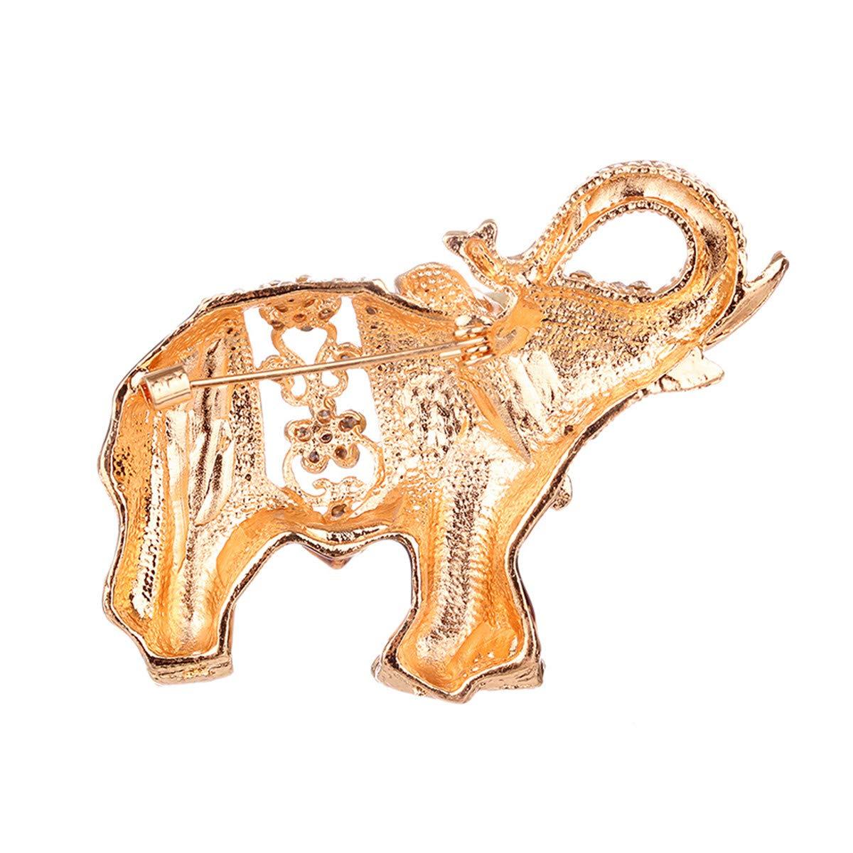 Winwinfly Alliage /Él/éphant Animal Forme Broche /Écharpe Accessoires V/êtements Broches Pour Femmes