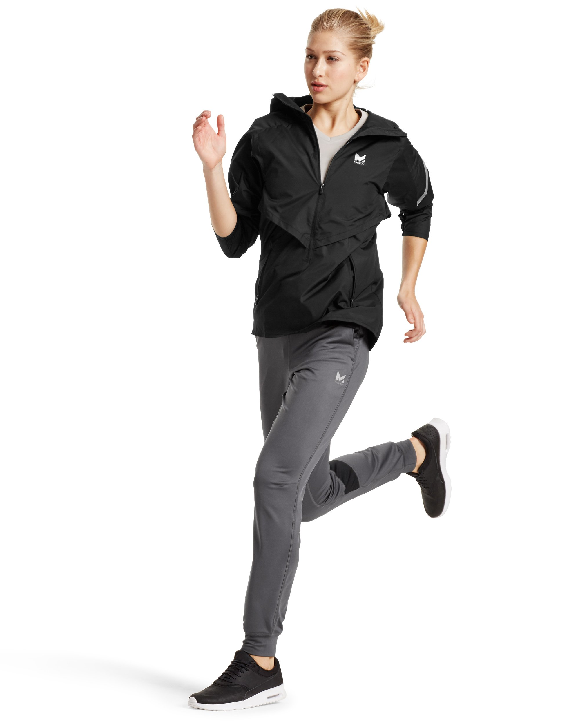 Mission Women's VaporActive Barometer Running Jacket, Moonless Night, Large by MISSION (Image #4)