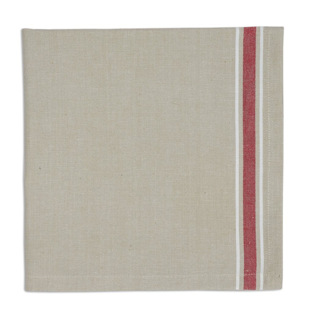 Heart of America Red Stripe Chambray Napkin - 6 Pieces by Heart of America