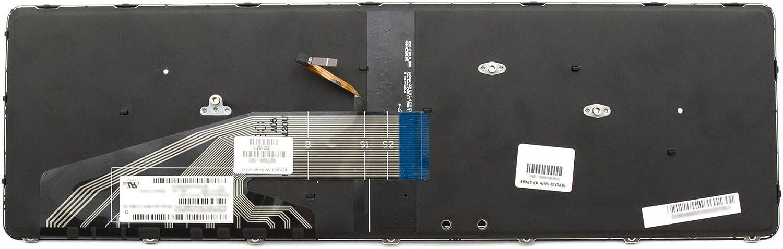 schwarz//schwarz matt mit Backlight deutsch ipc-computer 818250-041 Original HP Tastatur DE