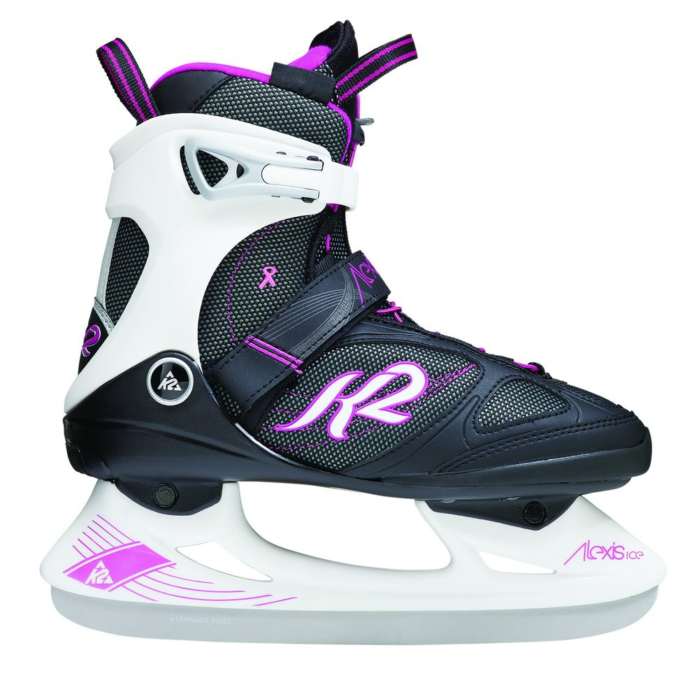 K2 Skate Alexis Ice Pro Skates, Black/White/Pink, Size 9.5 by K2 Skate