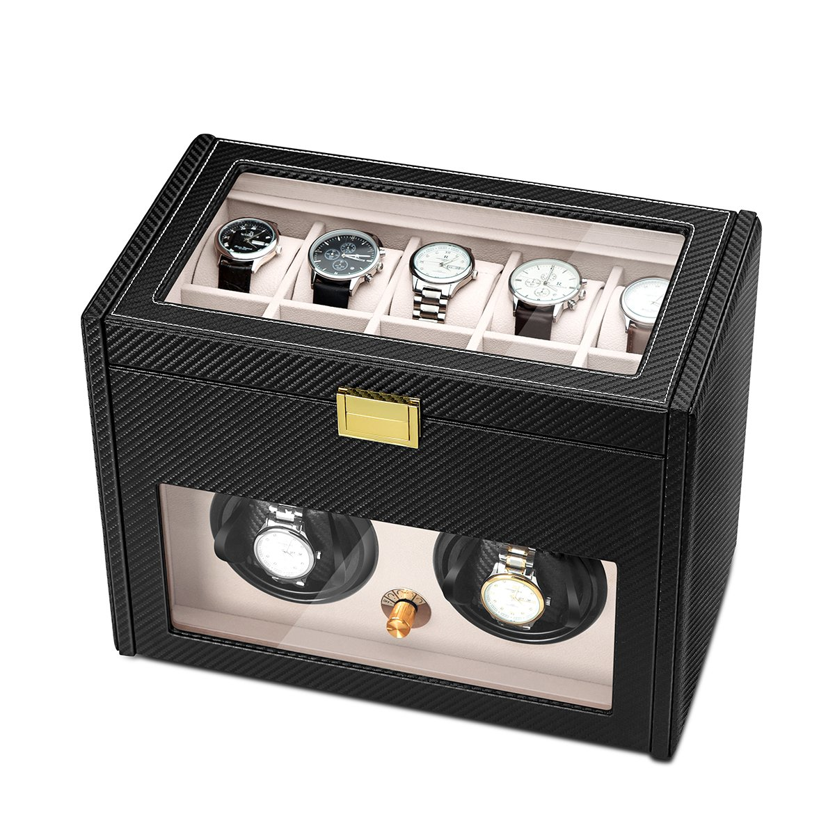 JQUEEN Double Watch Winder with 10 Storages