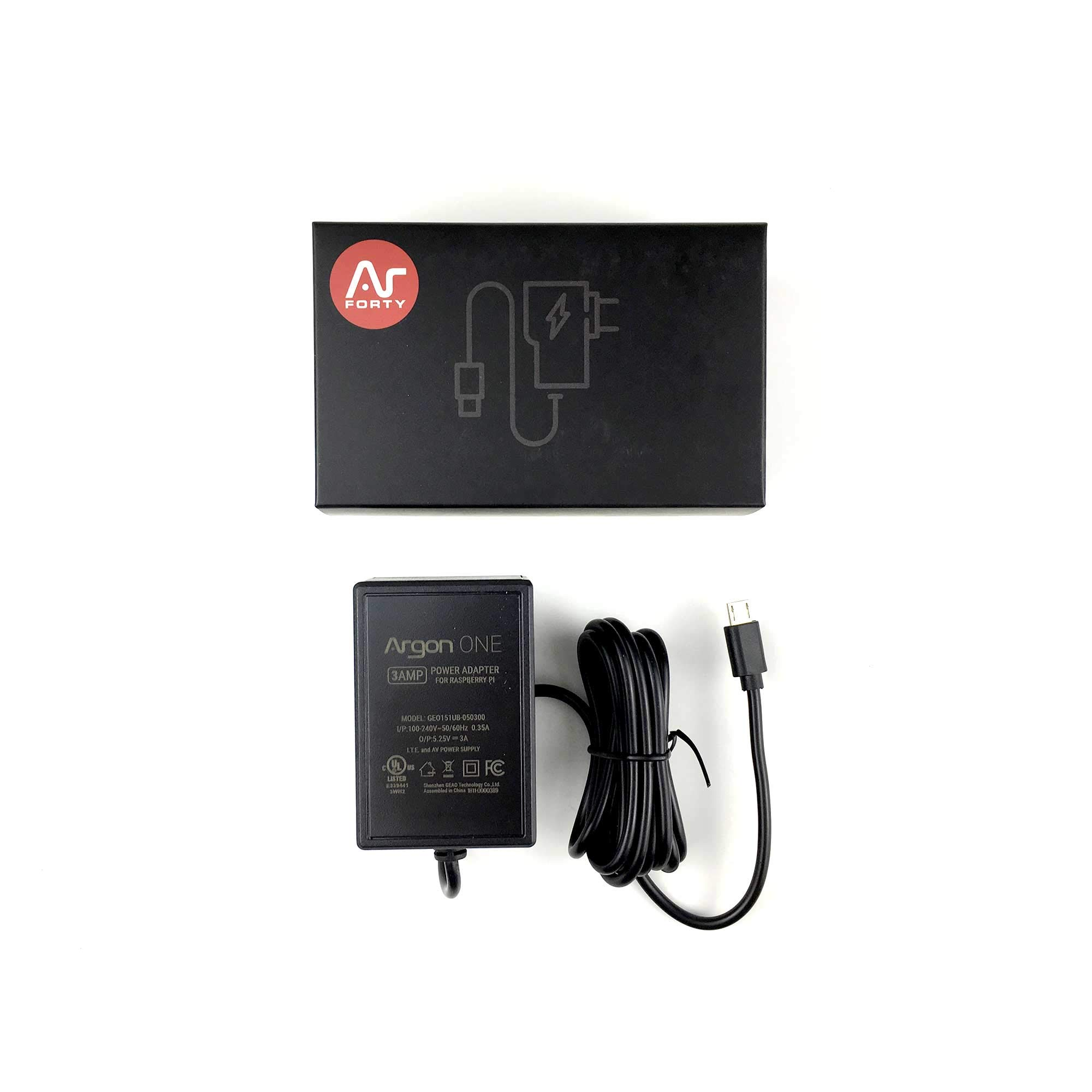 Argon ONE Raspberry Pi UL Listed Power Supply 5.25 Volts 3 Amps